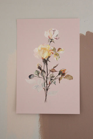 'STILL LIFE' CARD - WATERCOLOUR OF ROSES