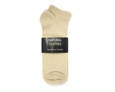 Bamboo Low Cut Socks Flaxen - Natural Clothes Bamboo Clothing & Accessories for Men & Women