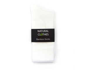 Bamboo Mid Cut Socks White - Natural Clothes Bamboo Clothing & Accessories for Men & Women