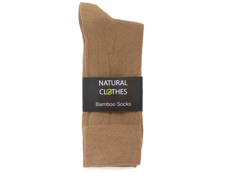 Bamboo Mid Cut Socks Beige - Natural Clothes Bamboo Clothing & Accessories for Men & Women