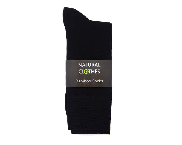 Bamboo Mid Cut Socks Black - Natural Clothes Bamboo Clothing & Accessories for Men & Women