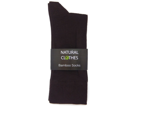Bamboo Mid-Crew Socks MBS08 (Brown)