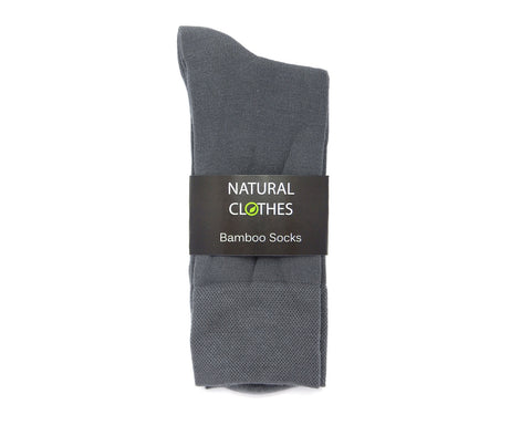 Bamboo Mid Cut Socks Grey - Natural Clothes Bamboo Clothing & Accessories for Men & Women