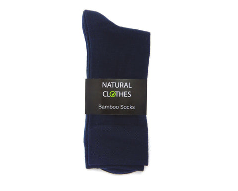 Bamboo Mid Cut Socks Navy Blue - Natural Clothes Bamboo Clothing & Accessories for Men & Women