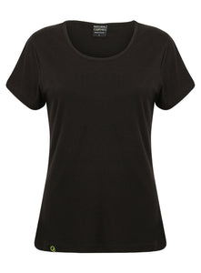 Bamboo Short Sleeve Top Black - Natural Clothes Bamboo Clothing & Accessories for Men & Women