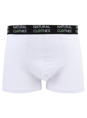 Bamboo Boxer Trunks White - Natural Clothes Bamboo Clothing & Accessories for Men & Women