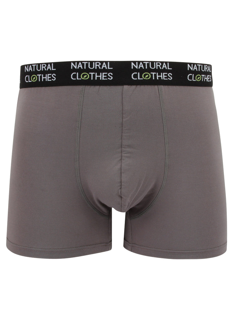 Bamboo Boxer Shorts (Grey) - Natural Clothes Bamboo Premium Clothing Company