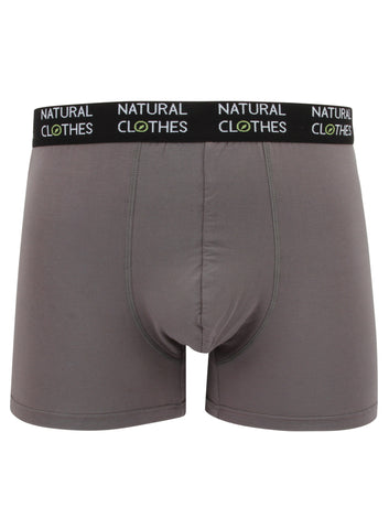 Bamboo Boxer Trunks Grey - Natural Clothes Bamboo Clothing & Accessories for Men & Women