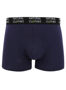 Bamboo Boxer Trunks Blue - Natural Clothes Bamboo Clothing & Accessories for Men & Women