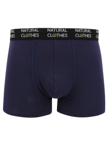Bamboo Boxer Trunks Blue - Natural Clothes Bamboo Clothing Company