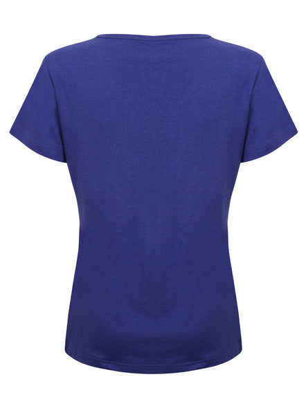 Bamboo Short Sleeve Top Blue - Natural Clothes Bamboo Clothing & Accessories for Men & Women