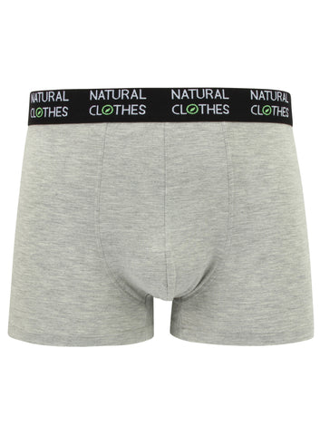 Bamboo Boxer Trunks Heather Grey - Natural Clothes Bamboo Clothing & Accessories for Men & Women