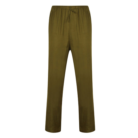 Bamboo Lounge Trousers Green - Natural Clothes Bamboo Clothing Company