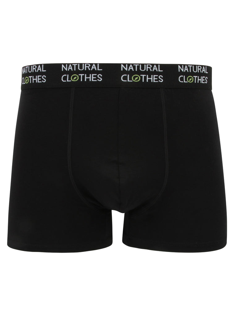 Bamboo Boxer Shorts (Black) - Natural Clothes Bamboo Premium Clothing Company