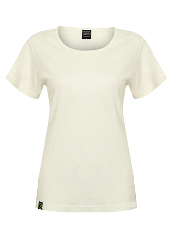 Bamboo Short Sleeve Top White - Natural Clothes Bamboo Clothing & Accessories for Men & Women