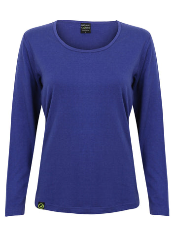Bamboo Long-sleeved Top (Blue)