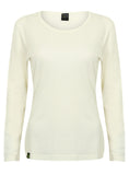 Bamboo Long-sleeved Top (White) - Natural Clothes Bamboo Premium Clothing Company
