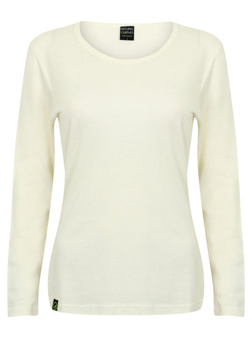 Bamboo Long Sleeve Top White - Natural Clothes Bamboo Clothing & Accessories for Men & Women