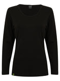 Bamboo Long-sleeved Top (Black) - Natural Clothes Bamboo Premium Clothing Company
