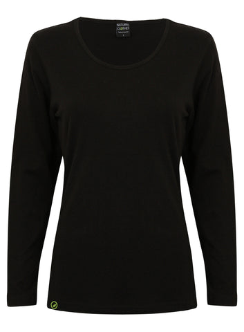 Bamboo Long-sleeved Top (Black)