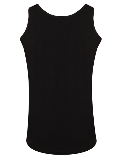 Bamboo Vest Top Black - Natural Clothes Bamboo Clothing & Accessories for Men & Women