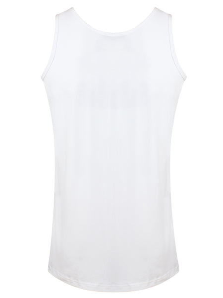 Bamboo Vest Top White - Natural Clothes Bamboo Clothing & Accessories for Men & Women