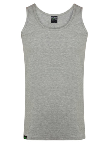 Bamboo Vest Top Grey - Natural Clothes Bamboo Clothing & Accessories for Men & Women