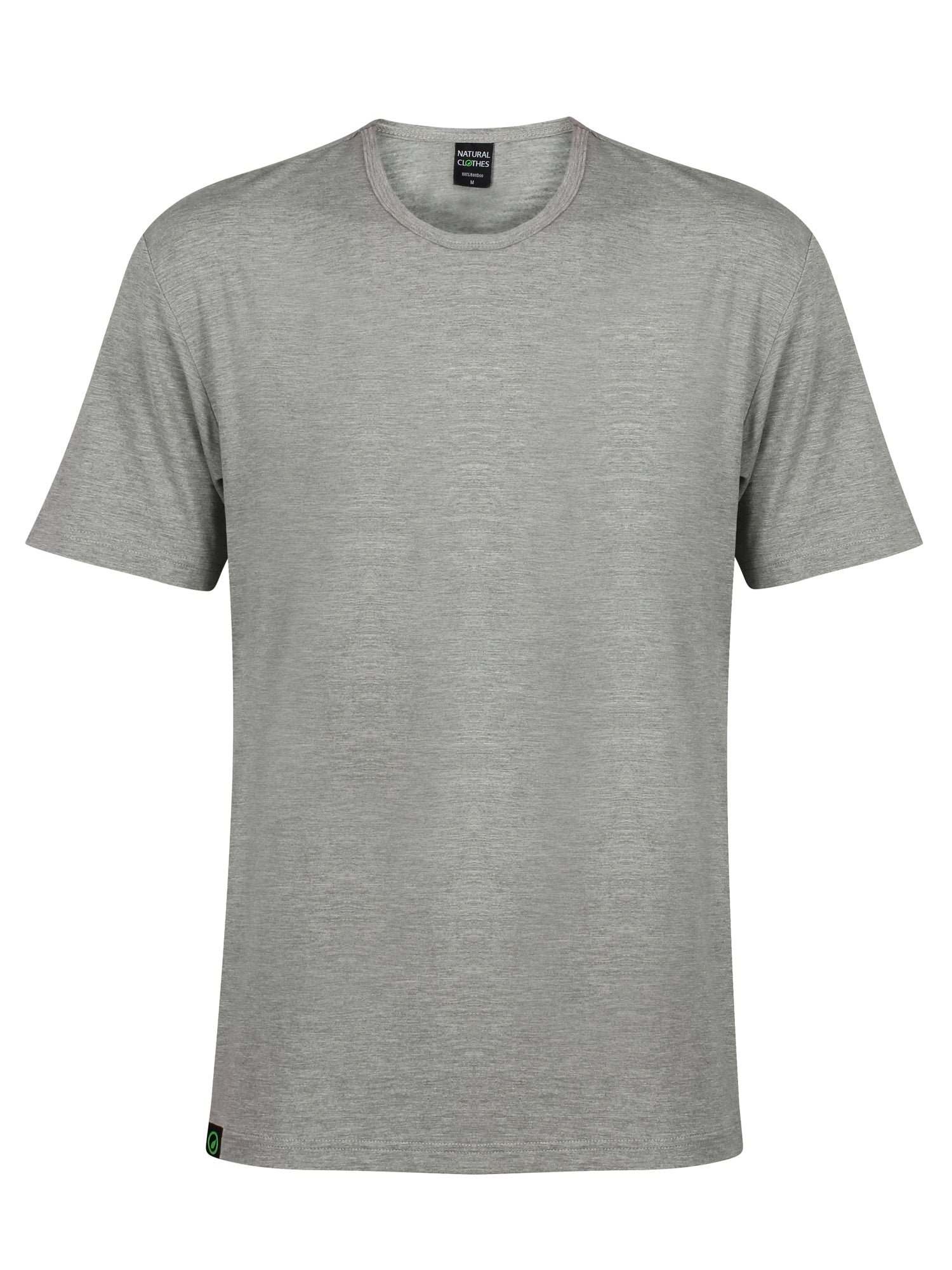 Bamboo T-Shirt Crew Neck Slim Fit Grey - Natural Clothes Bamboo Clothing & Accessories for Men & Women