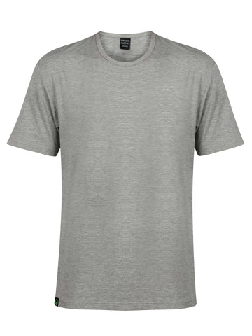 Bamboo T-Shirt Crew Neck Slim Fit Grey - Natural Clothes Bamboo Clothing Company