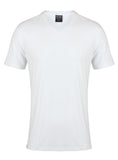 Bamboo T-Shirt V-Neck 240gsm (White) - Natural Clothes Bamboo Premium Clothing Company