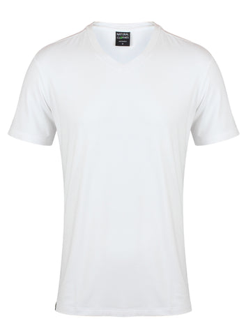 Bamboo T-Shirt V-Neck Regular Fit White - Natural Clothes Bamboo Clothing & Accessories for Men & Women