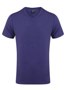 Bamboo T-Shirt V-Neck Regular Fit Blue - Natural Clothes Bamboo Clothing & Accessories for Men & Women