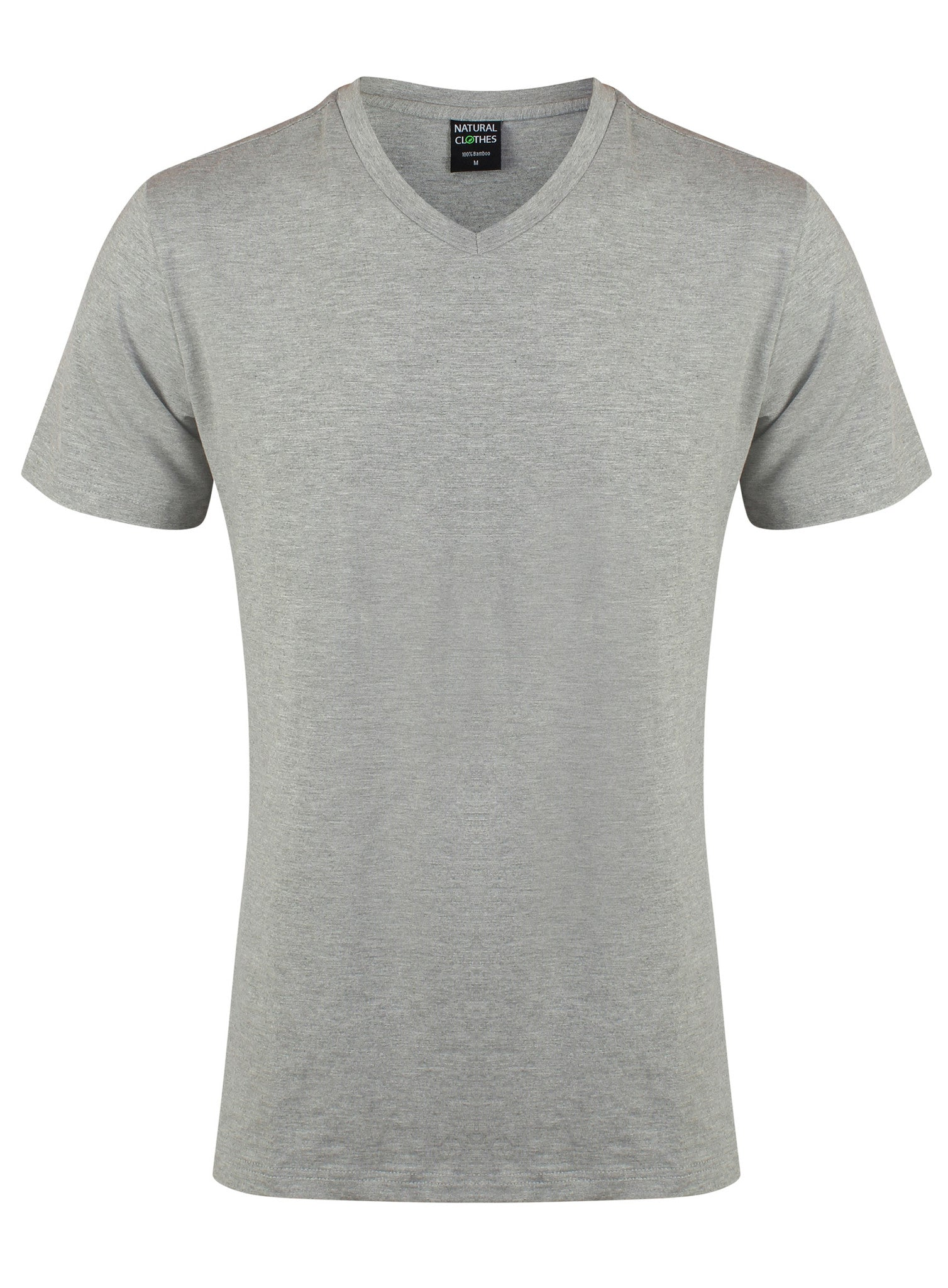 Bamboo T-Shirt V-Neck Regular Fit Grey - Natural Clothes Bamboo Clothing & Accessories for Men & Women
