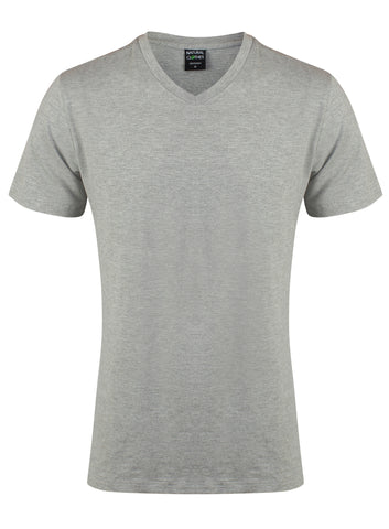 Bamboo T-Shirt V-Neck 240gsm (Grey)