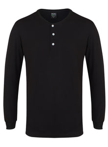 Bamboo Henley Shirt Black - Natural Clothes Bamboo Clothing & Accessories for Men & Women