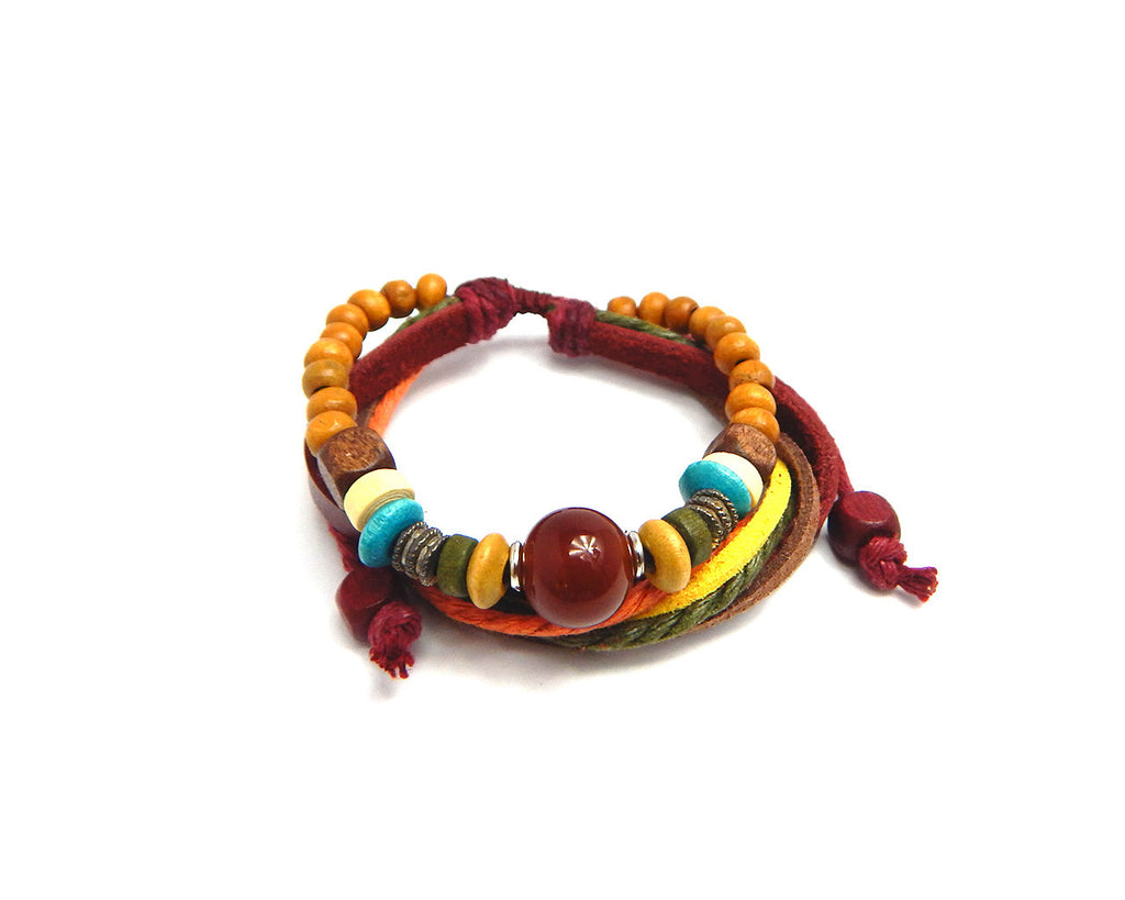 Ethnic Bracelet Moonstone Bead - Natural Clothes Bamboo Premium Clothing Company