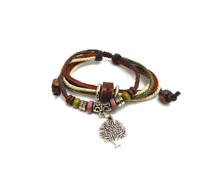 Ethnic Bracelet Maple Tree - Natural Clothes Bamboo Clothing & Accessories for Men & Women
