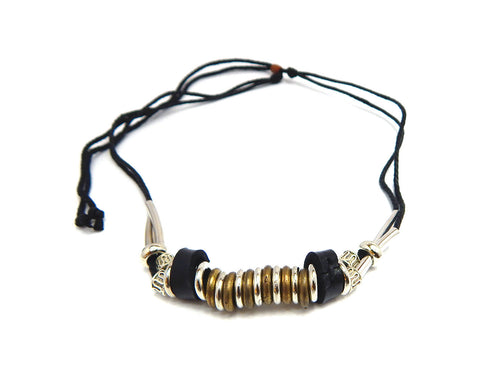 Ethnic Necklace Silver Ring - Natural Clothes Bamboo Clothing & Accessories for Men & Women