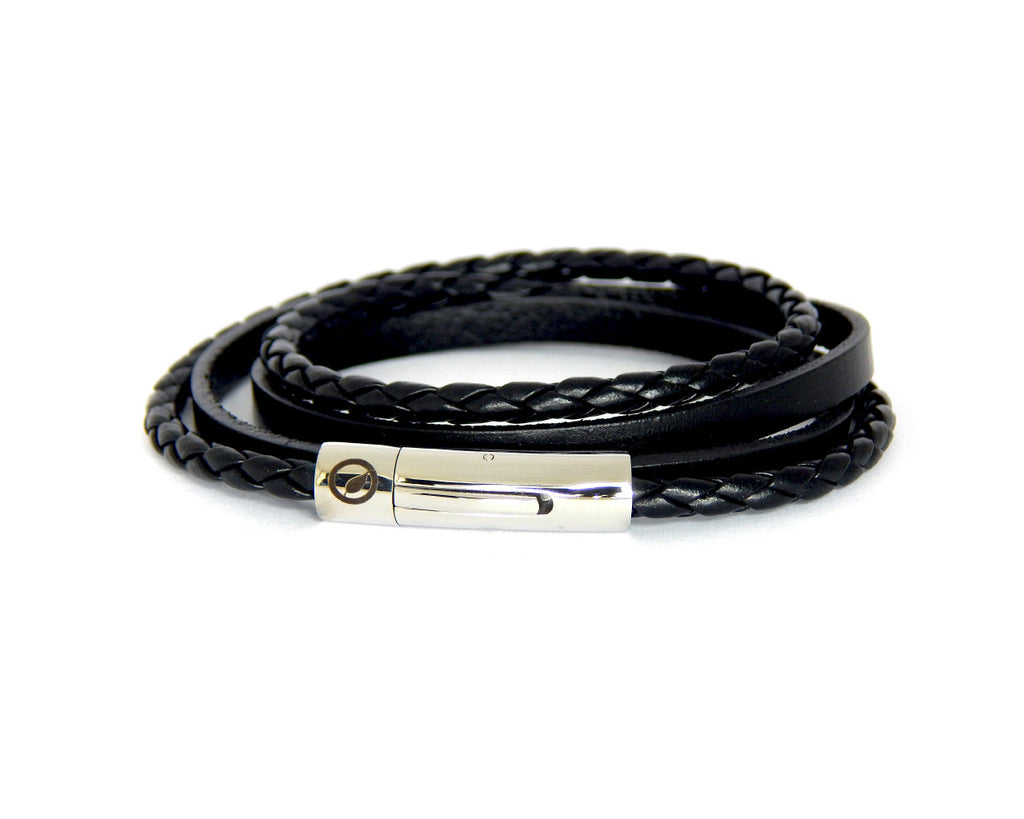 Men's Nappa Leather Bracelet LT-07 - Natural Clothes Bamboo Premium Clothing Company