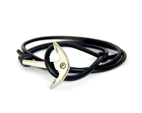 Men's Nappa Leather Anchor Bracelet - Natural Clothes Bamboo Clothing & Accessories for Men & Women