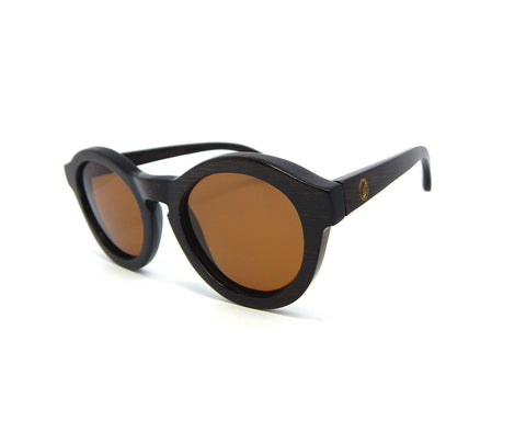 Bamboo Sunglasses Round BSE-02 - Natural Clothes Bamboo Clothing & Accessories for Men & Women