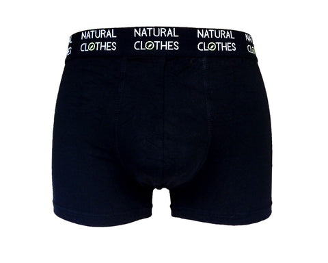 Boys' Bamboo Boxer Trunks Black - Natural Clothes Bamboo Clothing & Accessories for Men & Women