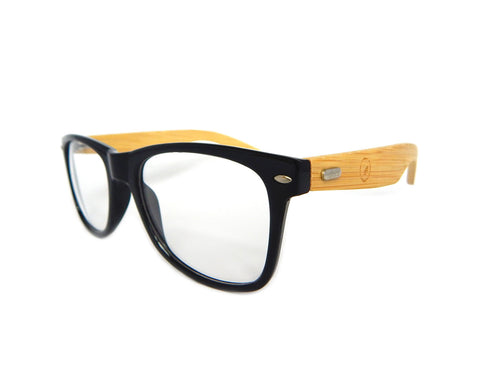 Bamboo Clear Lens Glasses BGW01 - Natural Clothes Bamboo Clothing & Accessories for Men & Women