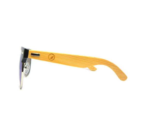 Bamboo Sunglasses Blue Mirror BSC03 - Natural Clothes Bamboo Clothing & Accessories for Men & Women