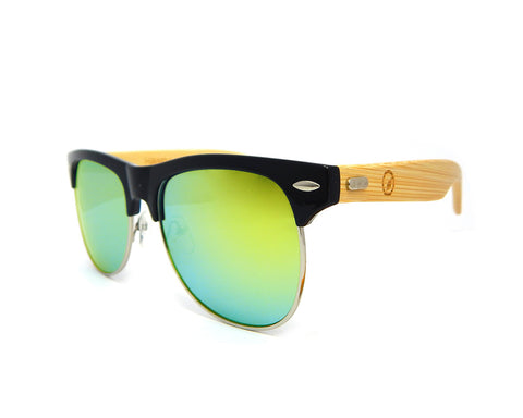 Bamboo Sunglasses Gold Mirror BSC04 - Natural Clothes Bamboo Clothing & Accessories for Men & Women