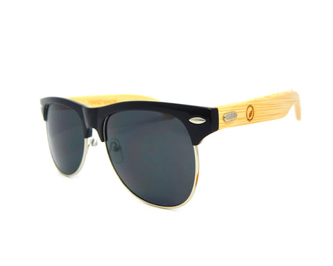 Bamboo Sunglasses Black Tint BSC01 - Natural Clothes Bamboo Clothing & Accessories for Men & Women