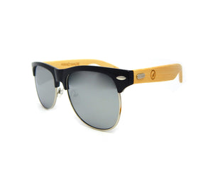 Bamboo Sunglasses Silver Mirror BSC09 - Natural Clothes Bamboo Clothing & Accessories for Men & Women