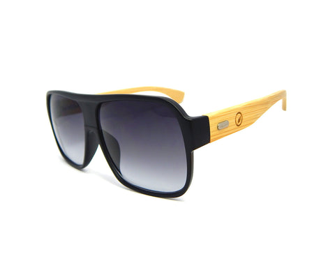 Bamboo Sunglasses Flat Top BSF02 - Natural Clothes Bamboo Clothing & Accessories for Men & Women