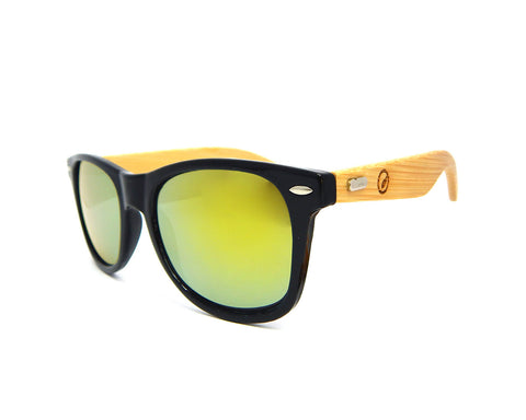 Bamboo Sunglasses Gold MIrror BSW04 - Natural Clothes Bamboo Clothing & Accessories for Men & Women