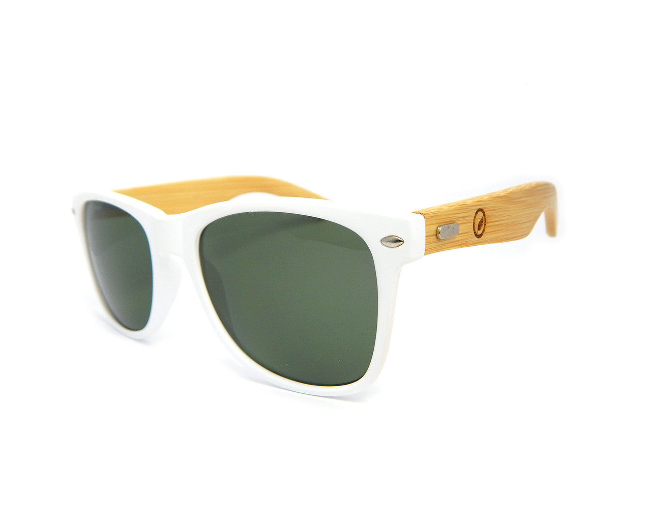Bamboo Sunglasses Matte White BSW06 - Natural Clothes Bamboo Clothing & Accessories for Men & Women